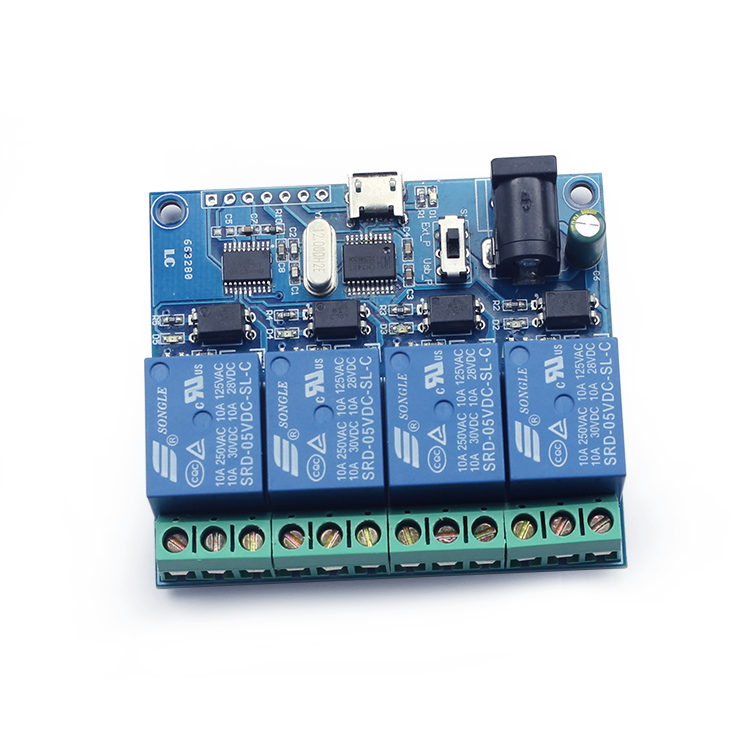 LCUS-4 4 Channel USB Relay Module Smart Switch with Intelligent Control