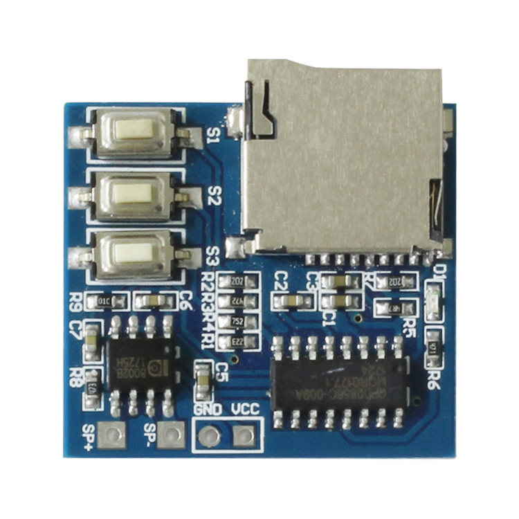 TF card MP3 decoding board  Decoding module 3.7-5v power supply  with 2W mixed mono channel and memory replay