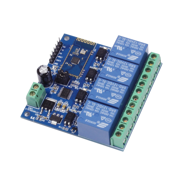 LC 12V 4-Channel Bluetooth Relay Module_chinalctech
